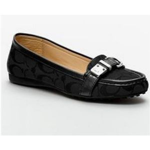 🆕️Coach Flores Black Sig C Loafers Size 7B